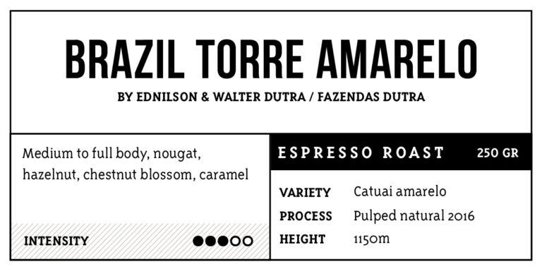 Brazil Torre Amarelo Espresso