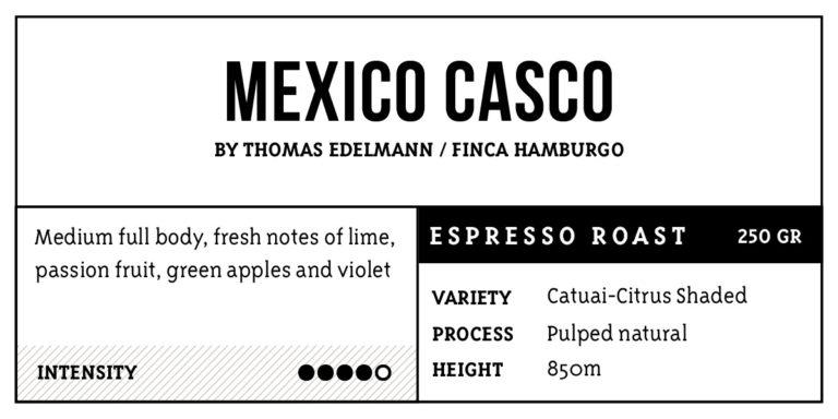 Mexico Casco  Espresso Roast